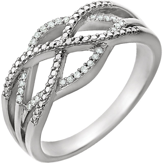 14 KT White Gold .07 Carat TW Diamond Ring