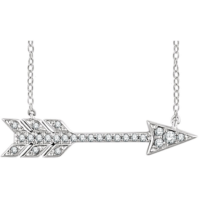 Buy 14 Karat White Gold 0.10 Carat Diamond Arrow 18