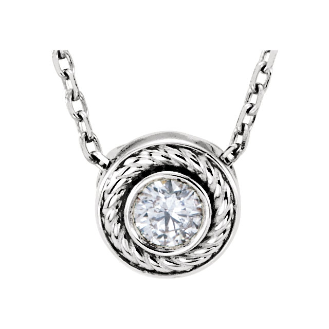 Perfect Gift Idea in 14 Karat White Gold 0.10 Carat Total Weight Diamond 16