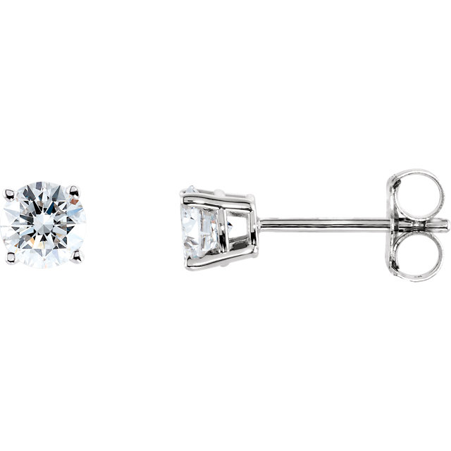 Great Deal in 14 Karat White Gold 0.50 Carat Total Weight Diamond Earrings