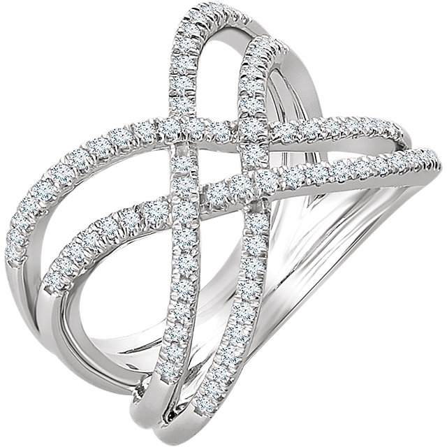 Shop 14 KT White Gold 0.50 Carat TW Diamond Ring
