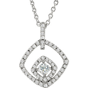14 KT White Gold 1/3 Carat Total Weight Diamond 18