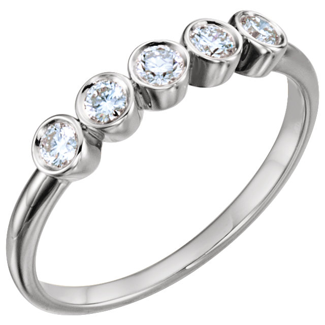Must See 14 KT White Gold 0.33 Carat TW Diamond Ring