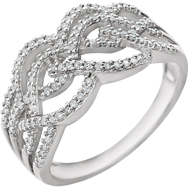 Low Price on 14 KT White Gold 0.33 Carat TW Diamond Ring
