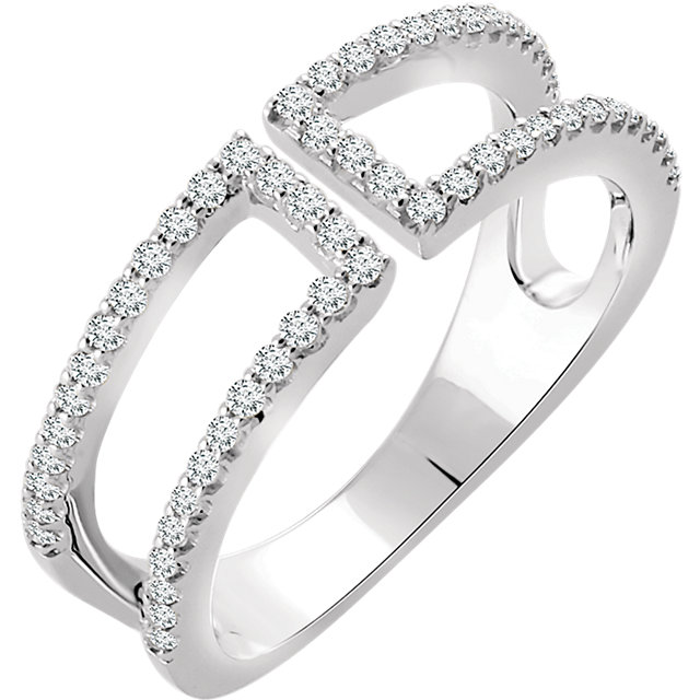 Low Price on Quality 14 KT White Gold 0.33 Carat TW Diamond Ring