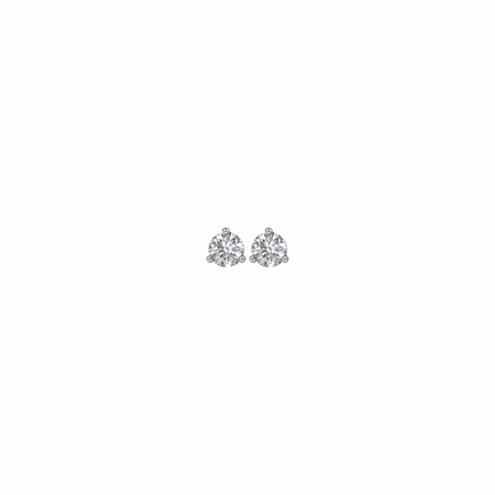 14 KT White Gold 1/4 Carat Total Weight Diamond Friction Post Stud Earrings