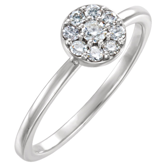 Must See 14 KT White Gold 0.25 Carat TW Diamond Ring