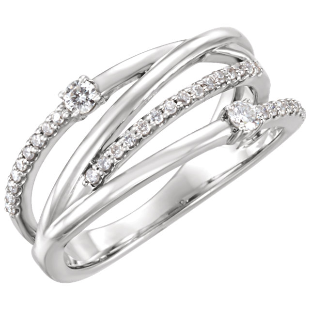 14 Karat White Gold 0.25 Carat Diamond Ring