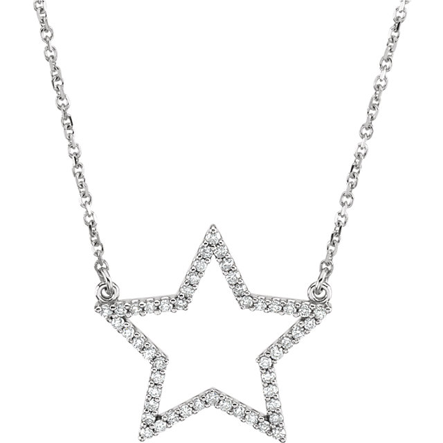 Buy 14 Karat White Gold 0.25 Carat Diamond Star 16