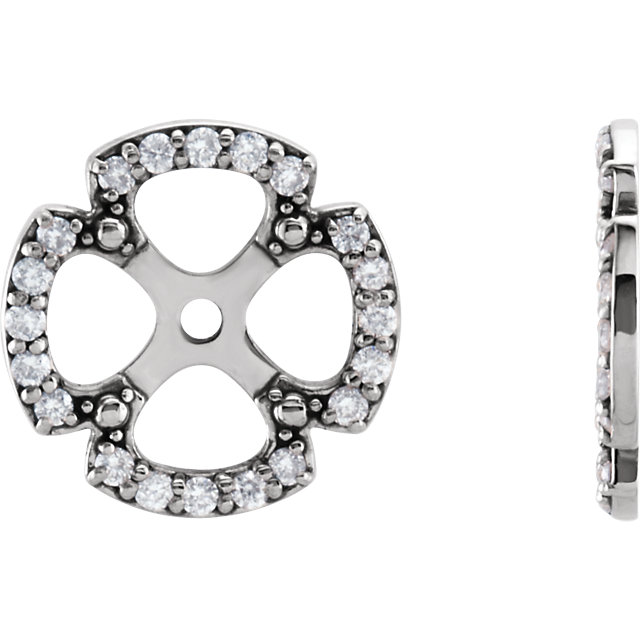 Shop Real 14 KT White Gold 0.20 Carat TW Diamond Earring Jackets