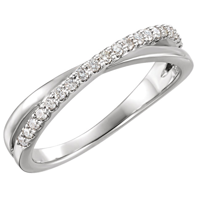 Shop Real 14 KT White Gold 0.20 Carat TW Diamond Ring