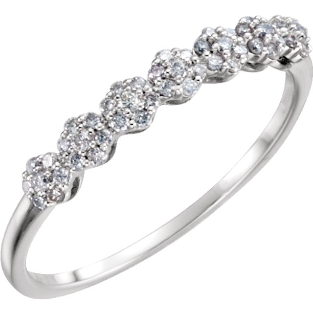 Low Price on 14 KT White Gold 0.20 Carat TW Diamond Ring