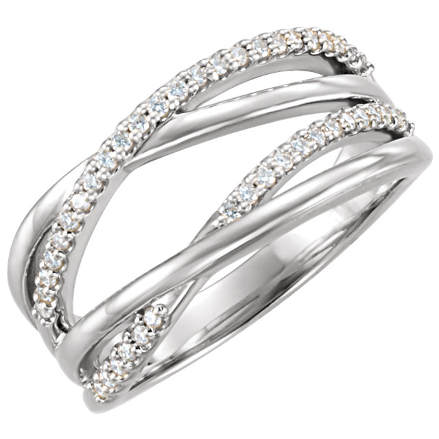 Genuine 14 KT White Gold 0.20 Carat TW Diamond Ring