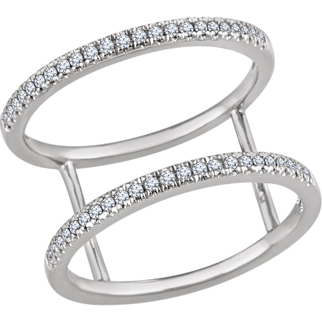 Buy Real 14 KT White Gold 0.20 Carat TW Diamond Ring