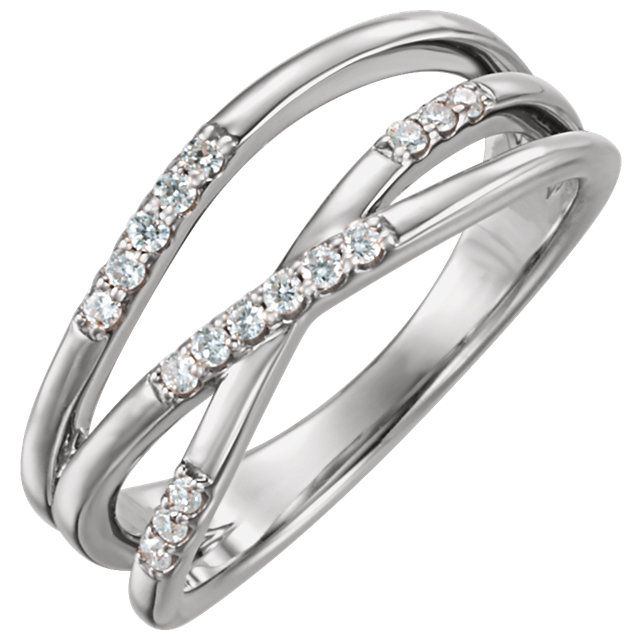 Jewelry Find 14 KT White Gold 0.17 Carat TW Diamond Ring