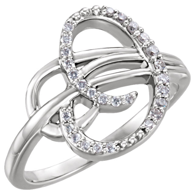 Jewelry in 14 KT White Gold 0.17 Carat TW Diamond Ring