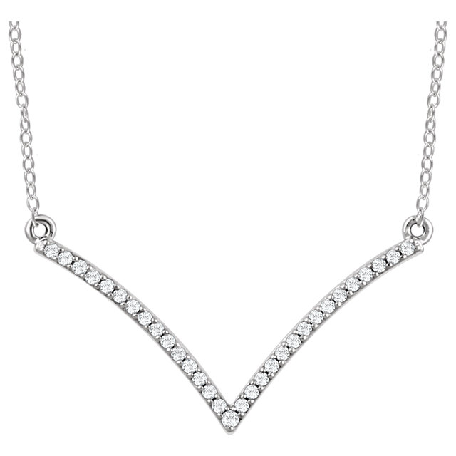 14 Karat White Gold 0.17 Carat Diamond