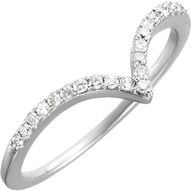14 KT White Gold 1/6 Carat TW Diamond