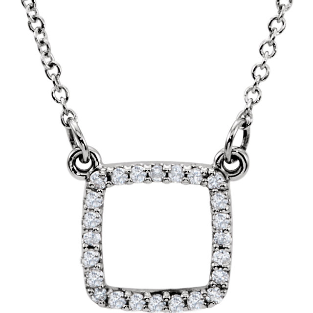 14 Karat White Gold 0.12 Carat Diamond 16