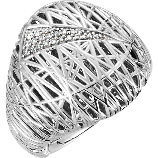 14 KT White Gold 0.12 Carat TW Diamond Ring