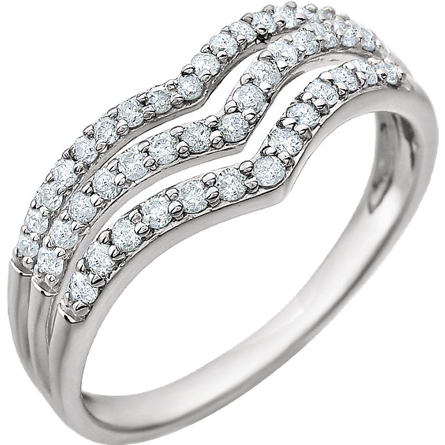 Quality 14 KT White Gold 0.40 Carat TW Diamond Ring