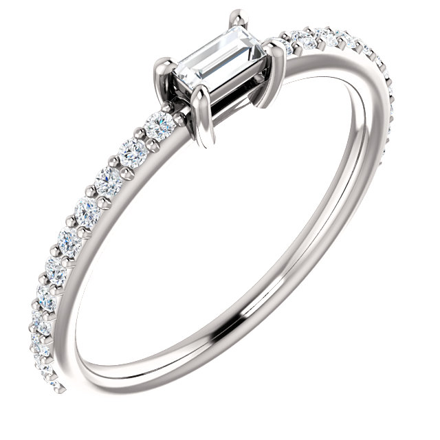 Shop 14 KT White Gold 0.40 Carat TW Diamond Ring
