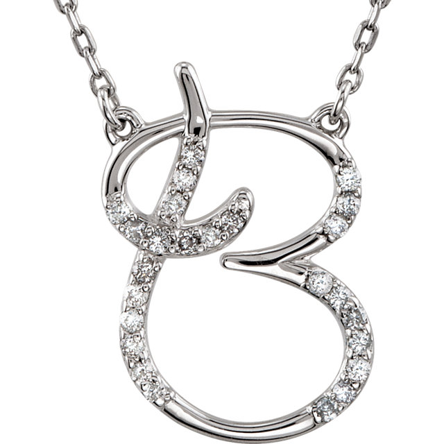 Great Deal in 14 Karat White Gold Letter