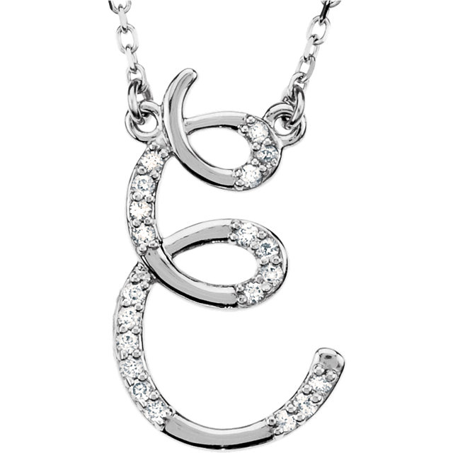 Easy Gift in 14 Karat White Gold Letter