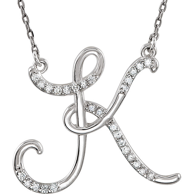 Eye Catchy 14 Karat White Gold Letter