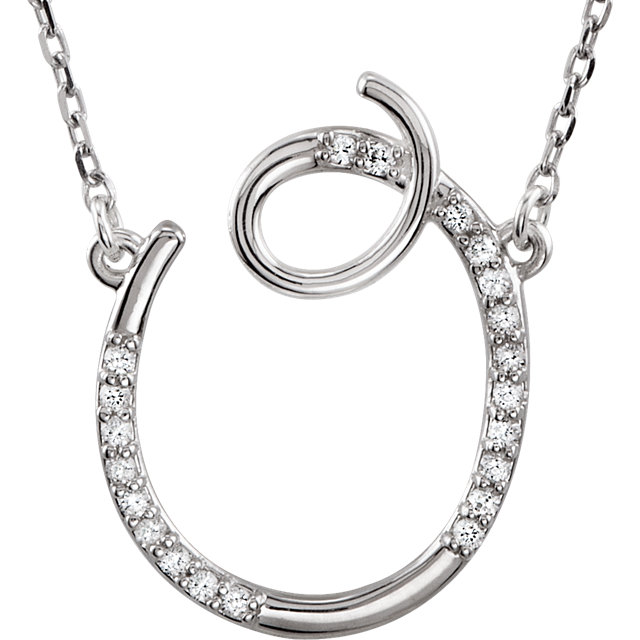 Great Gift in 14 Karat White Gold Letter