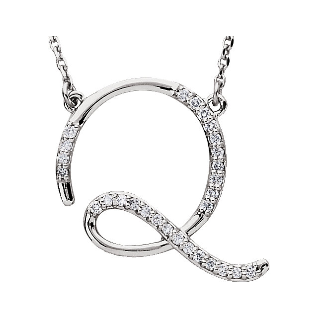 Low Price on 14 KT White Gold Letter