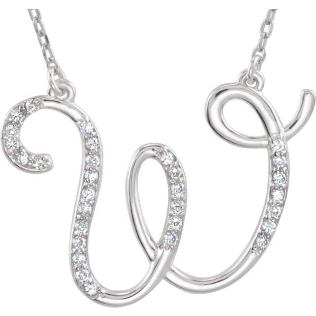 Wonderful 14 Karat White Gold Letter