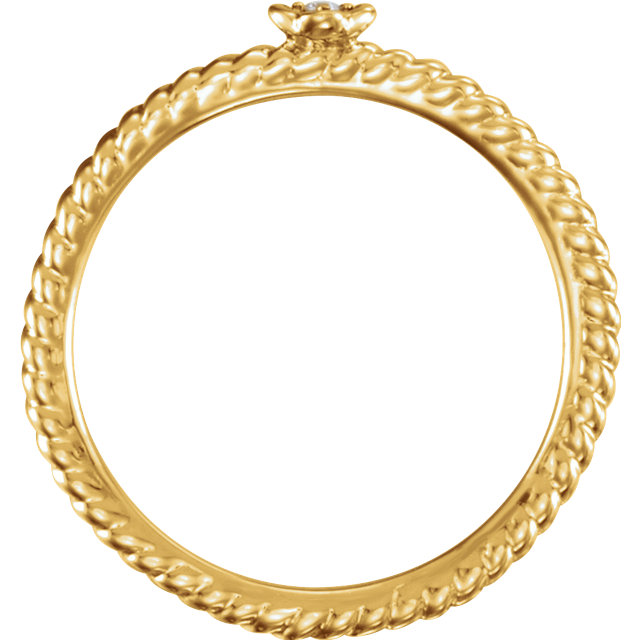 14 KT Yellow Gold .01 Carat Total Weight Diamond Stackable Ring