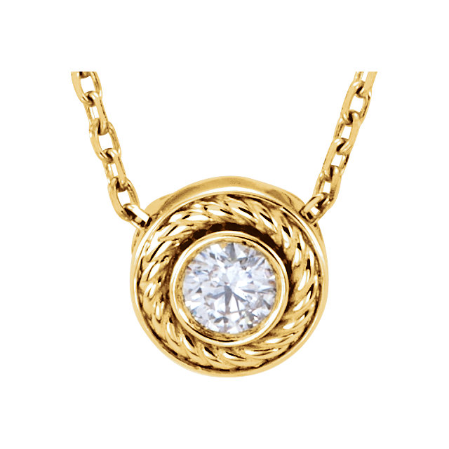 14 Karat Yellow Gold 0.10 Carat Diamond 16