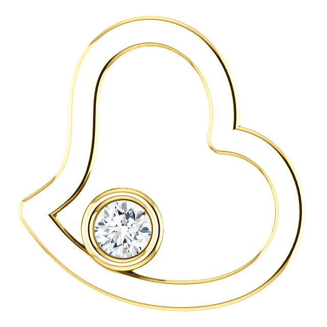 Great Buy in 14 Karat Yellow Gold 0.10 Carat Total Weight Diamond Pendant