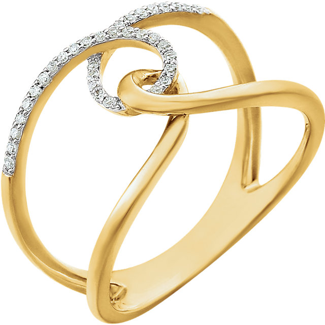 Surprise Her with  14 Karat Yellow Gold 0.10 Carat Total Weight Diamond Ring