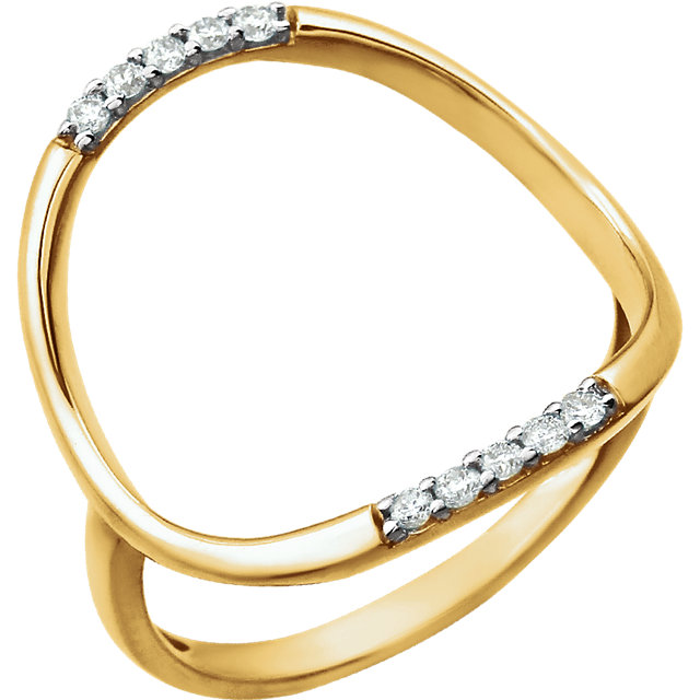 14 KT Yellow Gold 1/10 Carat TW Diamond Ring