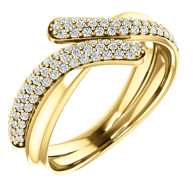 14 Karat Yellow Gold 0.50 Carat Diamond Ring