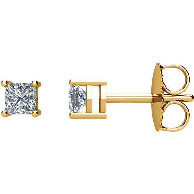 Perfect Gift Idea in 14 Karat Yellow Gold 0.33 Carat Total Weight Diamond Earrings