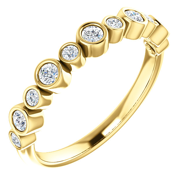Genuine  14 KT Yellow Gold 0.33 Carat TW Diamond Ring