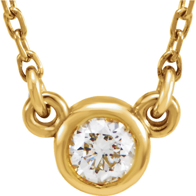 Alluring 14 Karat Yellow Gold 0.25 Carat Total Weight Round Genuine Diamond 18