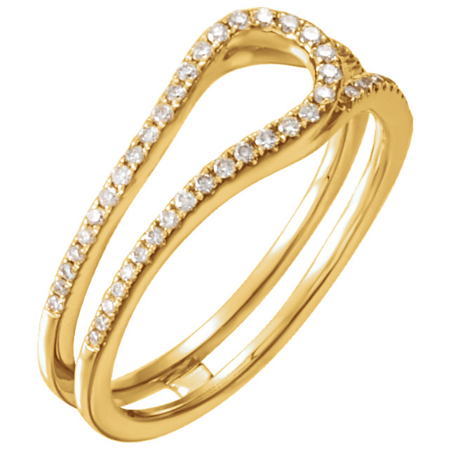 14 KT Yellow Gold 1/4 Carat TW Diamond Freeform Ring