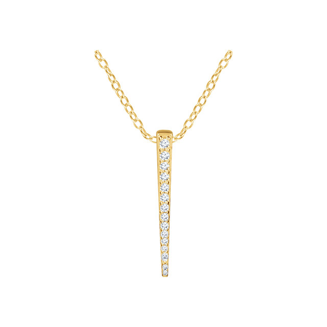 14 Karat Yellow Gold 0.25 Carat Diamond Graduated 16-18