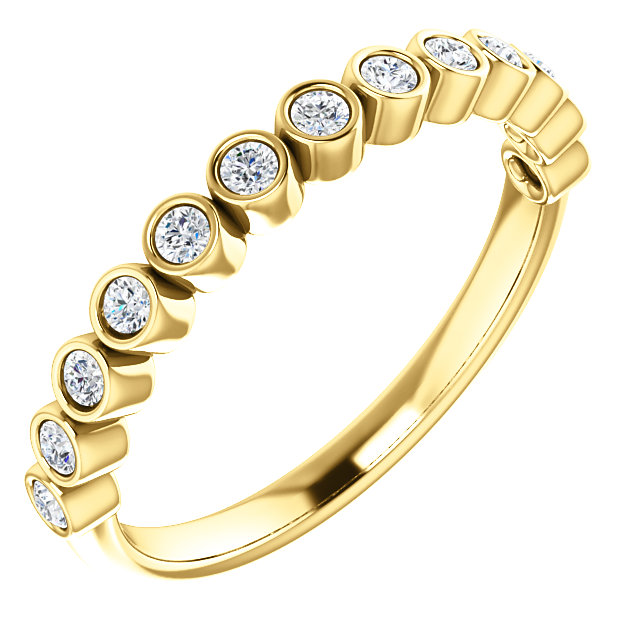 Buy Real 14 KT Yellow Gold 0.25 Carat TW Diamond Ring