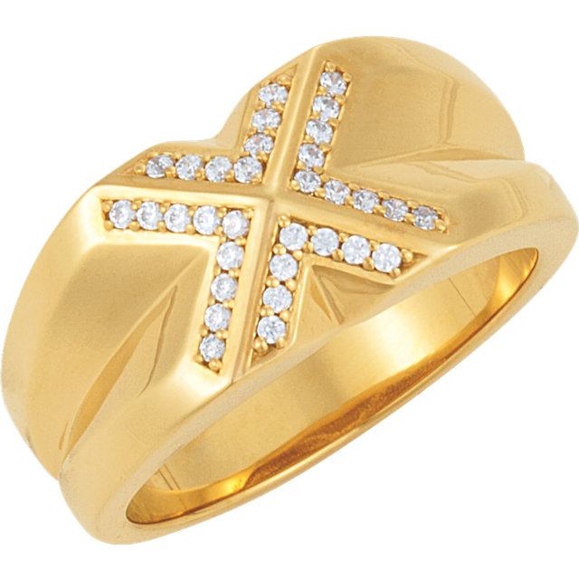 14 Karat Yellow Gold 0.25 Carat Diamond Ring