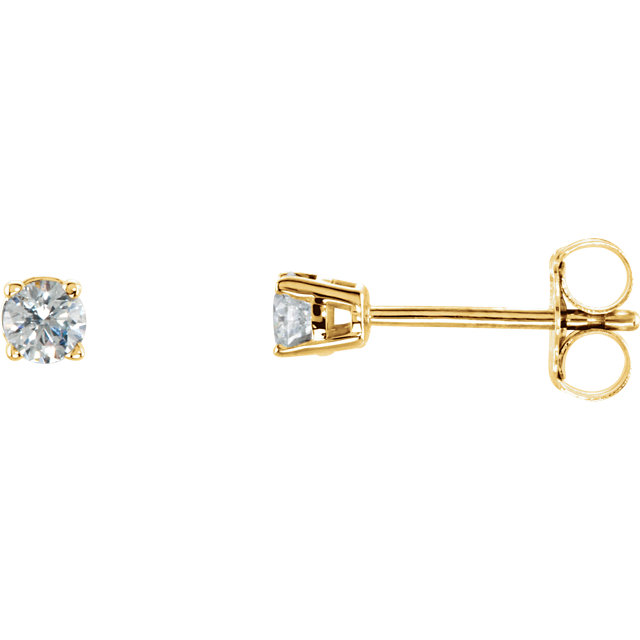 Eye Catchy 14 Karat Yellow Gold 0.20 Carat Total Weight Diamond Earrings
