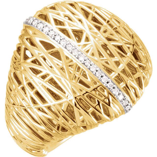 Shop 14 Karat Yellow Gold 0.17 Carat Diamond Nest Design Ring