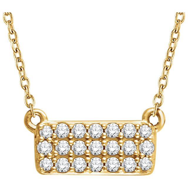 Must See 14 KT Yellow Gold 0.17 Carat TW Diamond Cluster 16-18