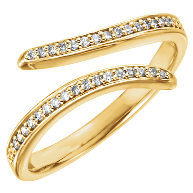 Buy Real 14 KT Yellow Gold 0.17 Carat TW Diamond Ring