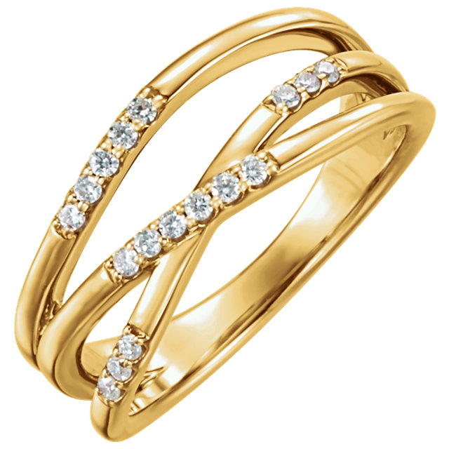 Great Buy in 14 KT Yellow Gold 0.17 Carat TW Diamond Ring